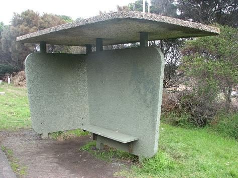 Concrete bus shelter Phillip Island